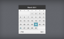 pretty-little-calendar-css3